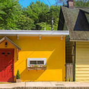 Yellow Cottage Poster
