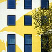 Yellow Facade In Berlin Poster