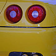 Yellow Ferrari Tail Lights Poster