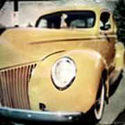 Yellow Gangsta Street Rod Poster