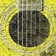Yellow Guitar - Digital Painting - Music Poster