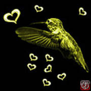 Yellow Hummingbird - 2055 F M Poster