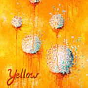 Yellow Poster by Michelle Boudreaux