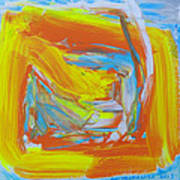 Yellow -orange  Window. Poster