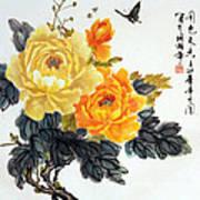 Yellow Peonies Poster