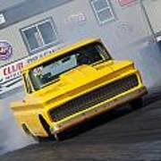 Yellow Pick Up Truck Poster