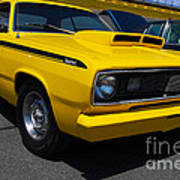Yellow Plymouth Duster Poster