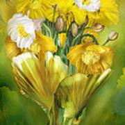 Yellow Poppies In Poppy Vase Poster