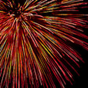 Yellow Red Firework Explosion Poster