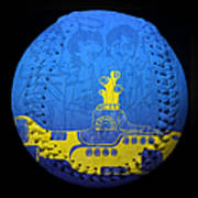 Yellow Submarine 2 Baseball Square Poster