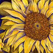 Yellow Sunflower Poster by Diane Ferron