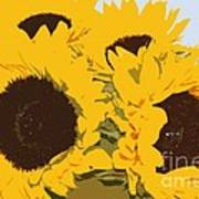 Yellow Sunflowers Poster