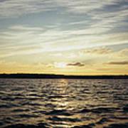 Yellow Sunrise In Manhassett Bay Poster