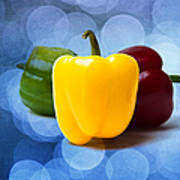 Yellow Sweet Pepper - Textured Poster
