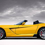 Yellow Viper Roadster Poster