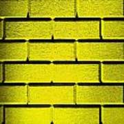 Yellow Wall Poster