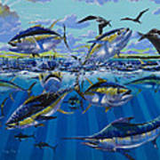 Yellowfin Run Off002 Poster by Carey Chen