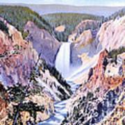 Yellowstone Canyon Yellowstone Np Poster