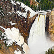 Yellowstone Falls From Lookout Point. Poster