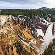 Yellowstone Falls Panorama Poster