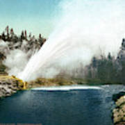 Yellowstone Geyser, C1905 Poster