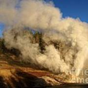 Yellowstone Riverside Eruption Poster