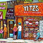 Yitzs Deli Toronto Restaurants Cafe Scenes Paintings Of Toronto Landmark City Scenes Carole Spandau  Poster