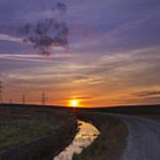 Yorkshire Sunset  Poster