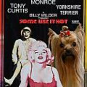 Yorkshire Terrier Art Canvas Print - Some Like It Hot Movie Poster Poster