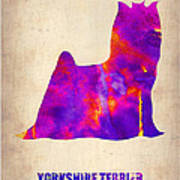 Yorkshire Terrier Poster Poster by Naxart Studio