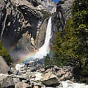 Yosemite Falls Rainbow Poster