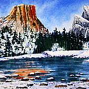 Yosemite In Winter II Poster