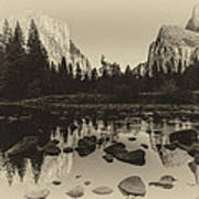 Yosemite National Park Valley View Antique Print   Poster by Scott McGuire