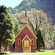 Yosemite Valley Chapel Lomo Poster