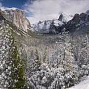 Yosemite Valley In Winter Poster