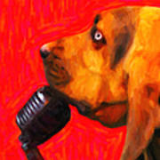 You Ain't Nothing But A Hound Dog - Red - Painterly Poster