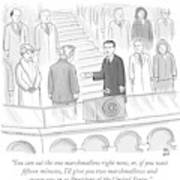 You Can Eat The One Marshmallow Right Now Poster by Paul Noth
