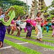 Young Bali Dancers - Indonesia Poster