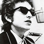Young Bob Dylan Poster
