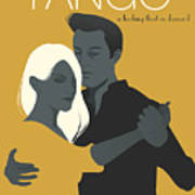 Young Couple Dancing Tango Poster