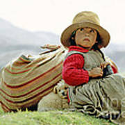 Young Girl In Peru Poster