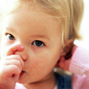 Young Girl Sucking Thumb Poster