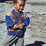 Young Nepalese Girl In Manang Poster