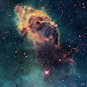 Young Stars Flare In The Carina Nebula Poster