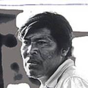 Young Yaqui Man New Pascua Arizona 1969 Poster