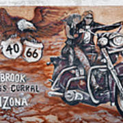 Young's Corral In Holbrook Az On Route 66 - The Mother Road Poster