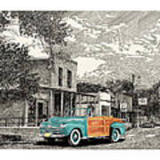 1946 Ford Sports Man Convertible  In Hillsboro N M  Poster
