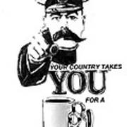 Your Country Takes You For A Thug Mug Poster