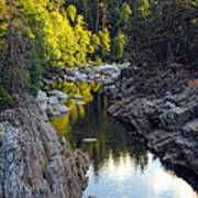 Yuba River Twilight Poster