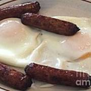 Yum Sausages And Eggs Poster